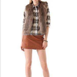 Club Monaco Matilda Faux Fur Vest. XS